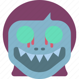 creepy, demon, girl, halloween, horror, scary, spooky icon