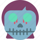creepy, girl, halloween, horror, scary, skull, spooky icon