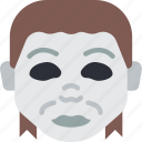 creepy, emojis, halloween, horror, michael, myers, spooky icon