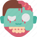 creepy, emojis, halloween, horror, scary, spooky, zombie icon