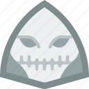 creepy, emojis, halloween, horror, scary, skull, spooky icon