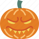 creepy, emojis, evil, halloween, horror, pumpkin, scary icon