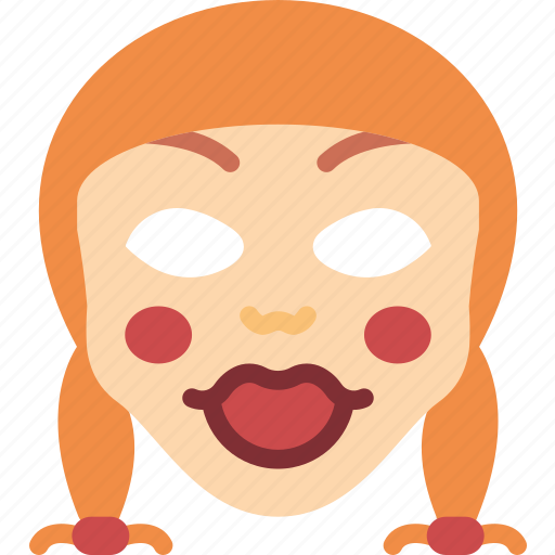 annabelle, creepy, emojis, halloween, horror, scary, spooky icon