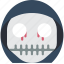 boy, creepy, emojis, halloween, horror, scary, skull icon