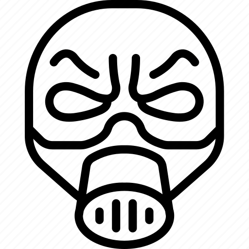 emojis, halloween, horror, mask, outline, scary, spooky icon