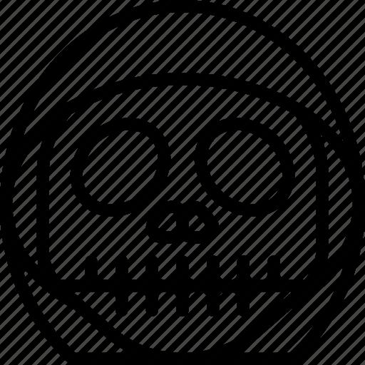 creepy, emojis, grim, halloween, horror, reaper, scary icon