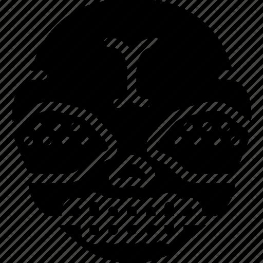 creepy, demon, emojis, halloween, scary, spooky icon