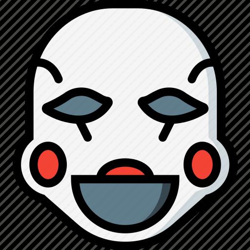creepy, emojis, halloween, horror, mangol, scary, spooky icon