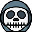 creepy, emojis, grim, halloween, horror, reaper, spooky icon