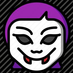 creepy, emojis, halloween, horror, scary, spooky, vampire icon