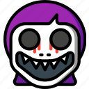 creepy, demon, emojis, girl, halloween, scary, spooky icon
