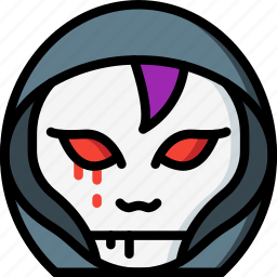 creepy, demon, emojis, halloween, hooded, horror, scary icon