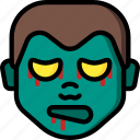 boy, creepy, emojis, halloween, scary, spooky, zombie icon