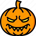 creepy, emojis, evil, halloween, pumpkin, scary, spooky icon