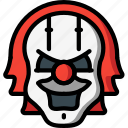 creepy, emojis, halloween, horror, it, scary, spooky icon