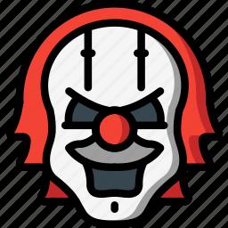 creepy, emojis, halloween, horror, it, scary, spooky icon