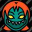 creepy, demon, emojis, girl, halloween, horror, scary icon