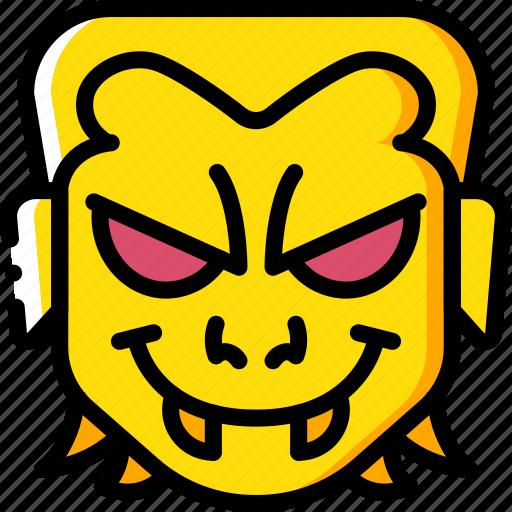 boy, creepy, emojis, halloween, scary, spooky, vampire icon