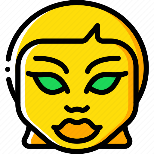 creepy, emojis, evil, girl, halloween, scary, spooky icon