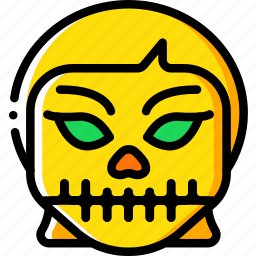 creepy, emojis, girl, halloween, scary, skull, spooky icon