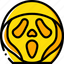 creepy, emojis, halloween, scary, scream, spooky icon