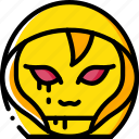 creepy, demon, emojis, halloween, hooded, scary, spooky icon