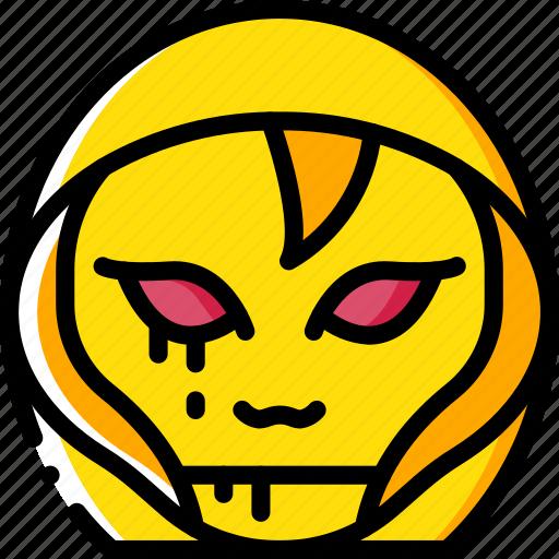 creepy, demon, emojis, halloween, hooded, scary, spooky icon