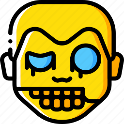boy, creepy, emojis, halloween, scary, spooky, zombie icon