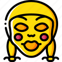 annabelle, creepy, emojis, halloween, scary, spooky icon