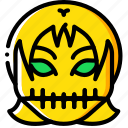 creepy, emojis, girl, halloween, scary, skull, spooky icon