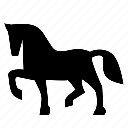 animal, horse, riding, soldier icon