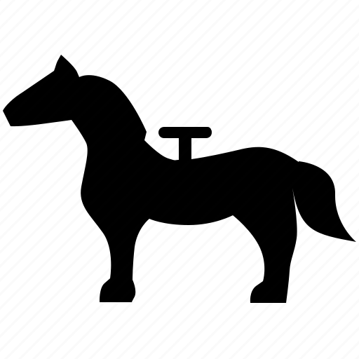 animal, horse, riding, toy icon
