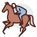 animal, domestic, equestrianism, ride, rider icon