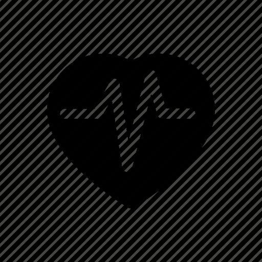 cardiogram, heal, health, heart, hospital, pulse icon