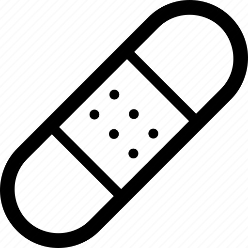 Adhesive, aids, band, bandage, plaster, single, sticking icon - Download on Iconfinder