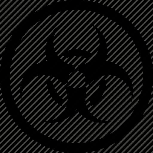 biohazard, biological, danger, hazard, hazardous, warning icon
