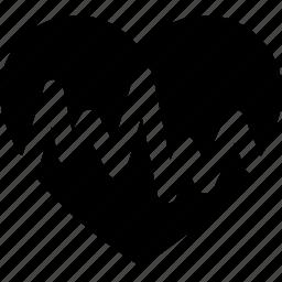 cardiogram, cardiograph, diagram, graph, heart, rate icon