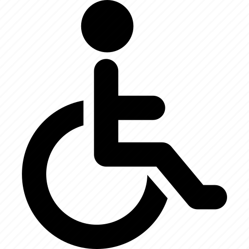 disability, disabled, handicapped, invalid, wheelchair icon