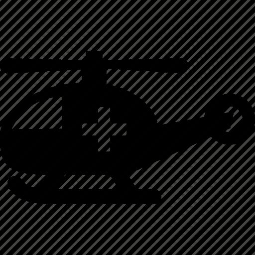ambulance, emergency, helicopter, hospital, medical icon