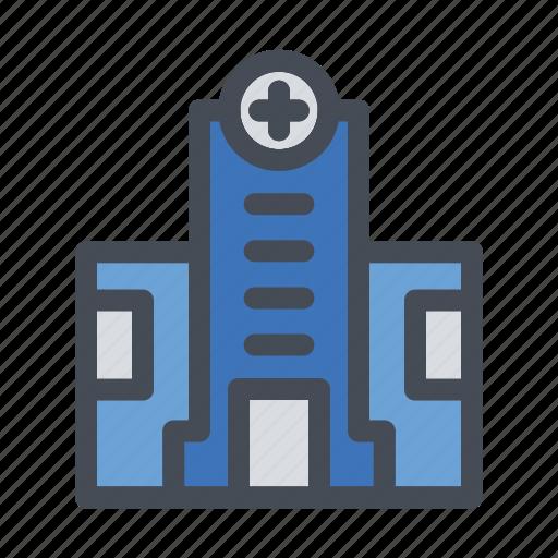 building, clinic, healthcare, hospital, medicalcanter icon