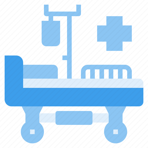 bed, hospital, medicine, service, treatment icon