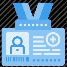 card, clinic, hospital, id, identity, medical, member icon
