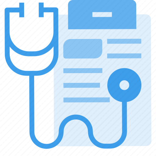 care, data, equipment, hospital, information, medical, stethoscope icon
