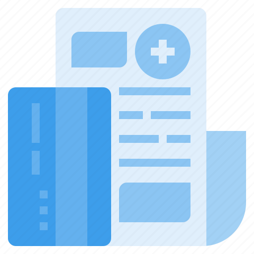bill, card, credit, expense, medical, payment, treatment icon