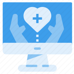 charity, health, heart, medical, monitor, treatment icon