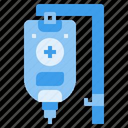 blood, infusion, medical, saline, transfusion icon