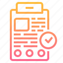 checkup, data, examination, information, medical, treatment icon