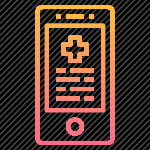 care, hospital, medical, mobile, smartphone, treatment icon