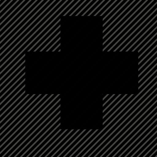 cross, hospital, medical icon