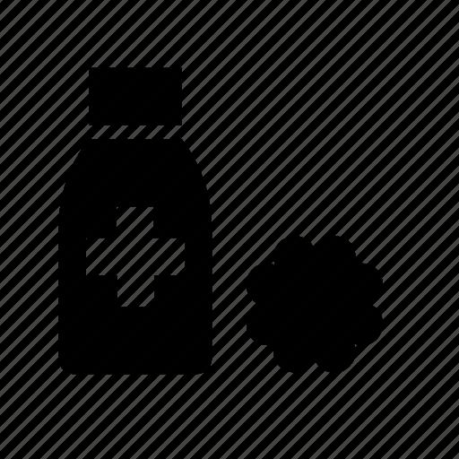 alcohol, cotton, hospital, medical icon